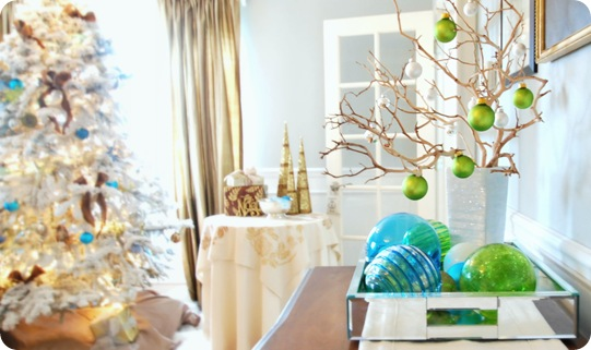 JPM Design: Turquoise & Lime Green Christmas