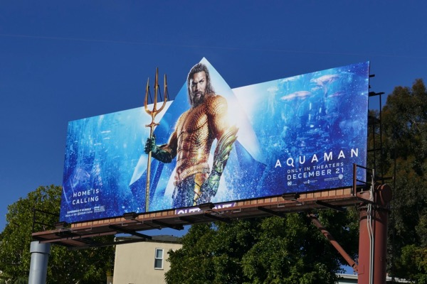 Aquaman special extension cut-out billboard
