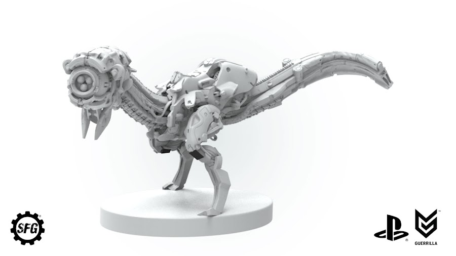 horizon zero dawn board game tabletop the watcher figure