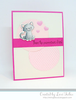 Purrr-fect Friend card-designed by Lori Tecler/Inking Aloud-stamps from SugarPea Designs