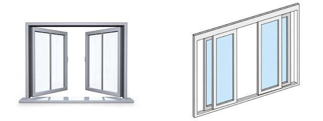 Một số kiểu mở cửa sổ nhôm kính