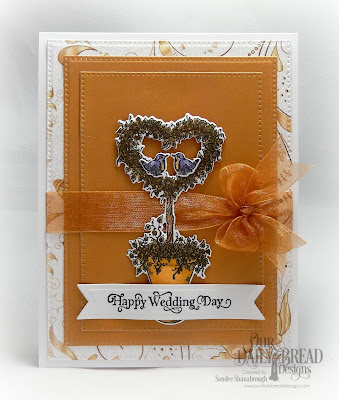Our Daily Bread Designs Stamp Set: Happy Wedding Day, Custom Dies: Heart Topiary, Pierced Rectangles, Pennant Flags, Paper Collection: Wedding Wishes