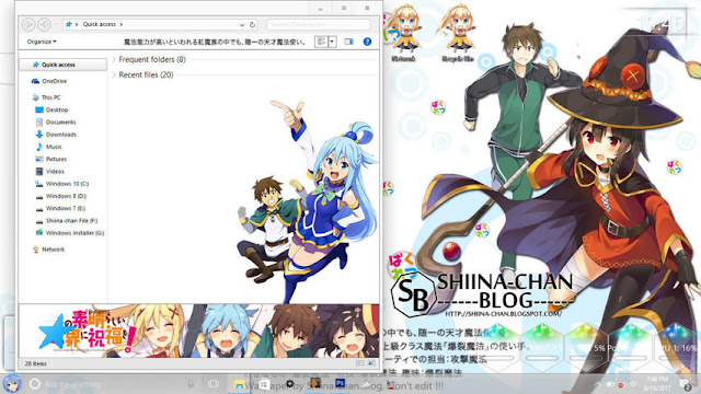 Windows 10 Ver. 1607 Theme KonoSuba! by Enji Riz