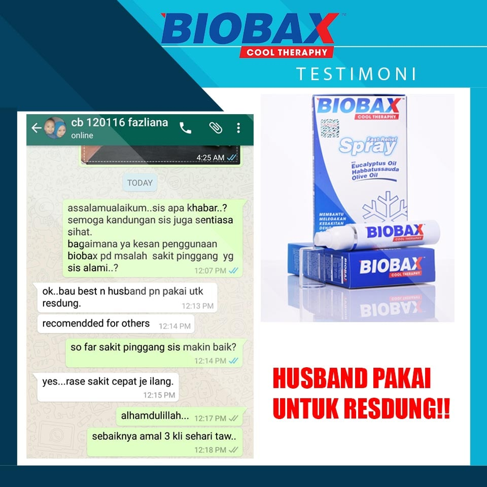 biobax spray cool theraphy resdung