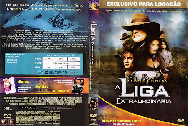 Capa DVD A Liga Extraordinária