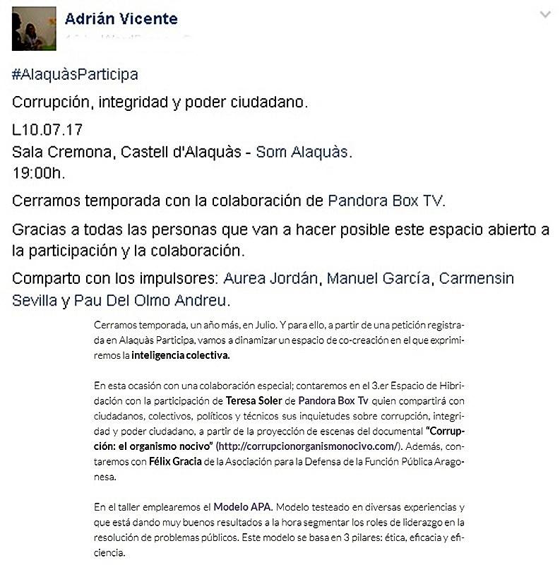 Alaquas participa castillo de alaquas sala cremona dia 10 7 2017 proyeccion documental - Trabajo en alaquas ...