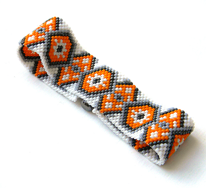 Peyote bracelet beadwork pattern beading jewelry anabel