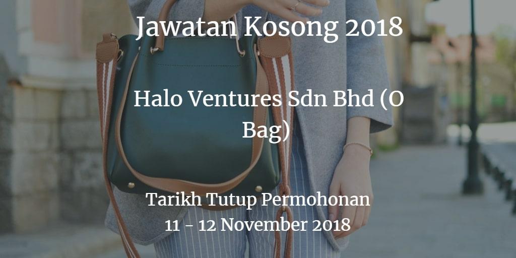Jawatan Kosong Halo Ventures Sdn Bhd (O Bag) 11 - 12 November 2018