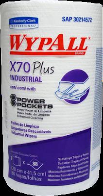PAÑO DE LIMPIEZA INDUSTRIAL WYPALL X70 PLUS