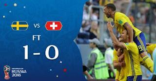 Swedia vs Swiss 1-0 Video Gol