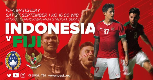 Timnas Indonesia Senior vs Fiji - Friendly Match Sabtu 2 September 2017
