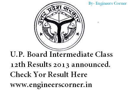 U.P. Board Intermediate Class 12th Result 2013 Announced