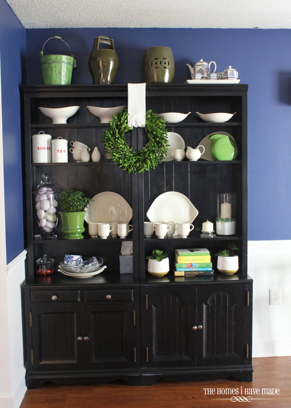 Styling Bookcases As A Dining Hutch