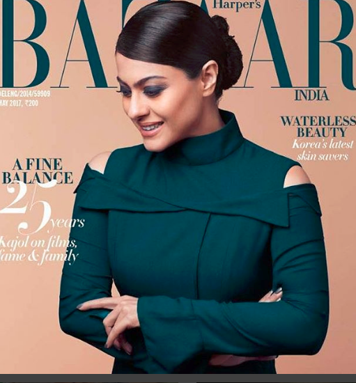 Kajol Devgan On The Cover of Harpers Bazaar India Magazine May 2017