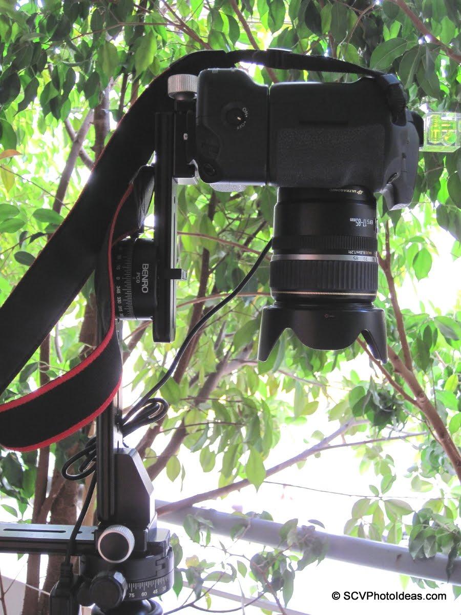 Camera at offset nadir shooting position detail