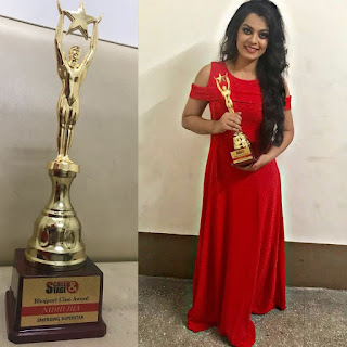 Nidhi Jha is Won Emerging Superstar Awards in Kolkata.