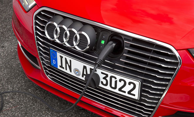 Audi A3 e-tron nose-mounted charging port
