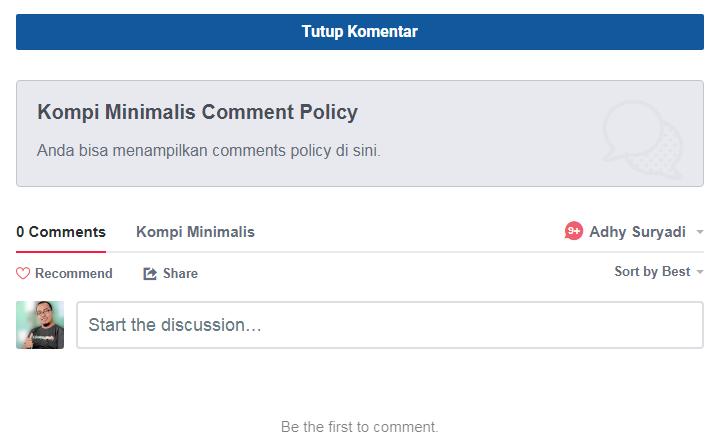 Cara Mudah Show Hide Komentar Blogger Non AMP