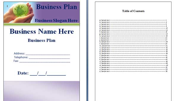 business proposal template microsoft - office word cover page