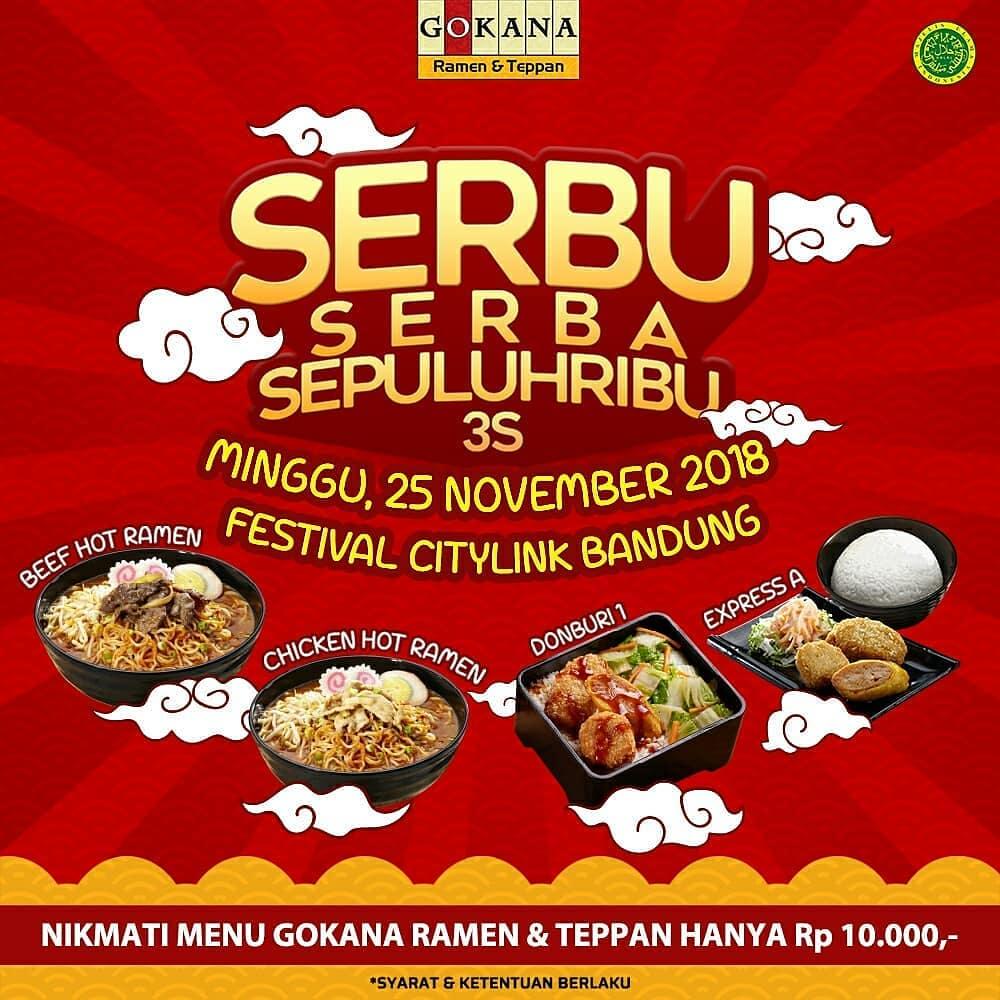 Gokana - Promo Serbu Serba Sepulih Ribu di Festival Citilink Bandung (25 Nov 2018)