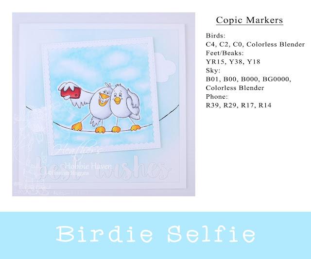 Heather's Hobbie Haven - Birdie Selfie Card Kit