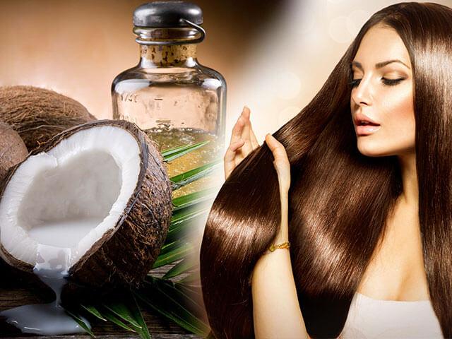 Huile noix de coco cheveux pousse