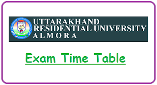 Uttarakhand Aawasiya Vishwavidyalaya Date Sheet 2019