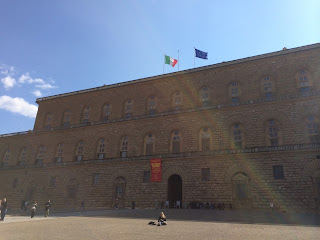 Photograph of the Palazzo Pitti in Florence