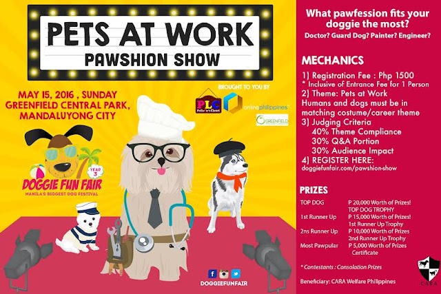 Doggie PAWshion Show THEME: Pets at Work: What PAWfession Fits your Doggie the Most, animal blogger philippines,