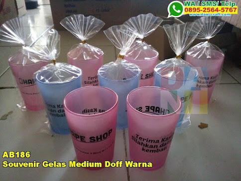 Toko Souvenir Gelas Medium Doff Warna
