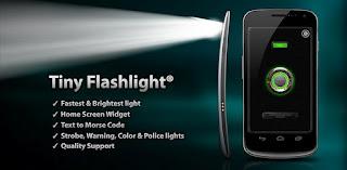 تحميل برنامج المصباح tiny flashlight + led للاندرويد و الايفون برابط مباشر
