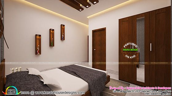 Bedrooms interior design Kerala