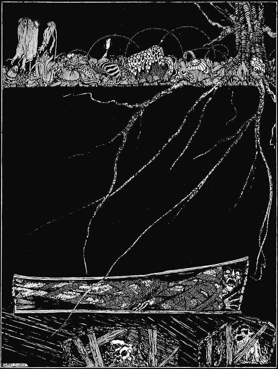 a Harry Clarke illustration for Poe