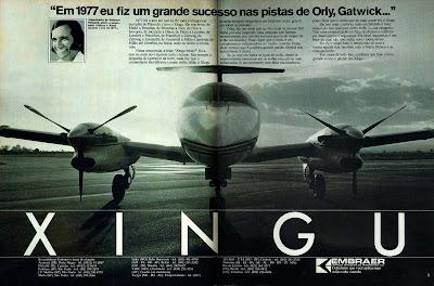 propaganda avião Xingu - Embraer - 1979