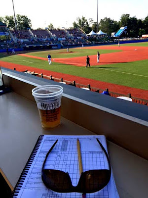Yes, I am nerdy enough to have my own spiral bound scorebook.