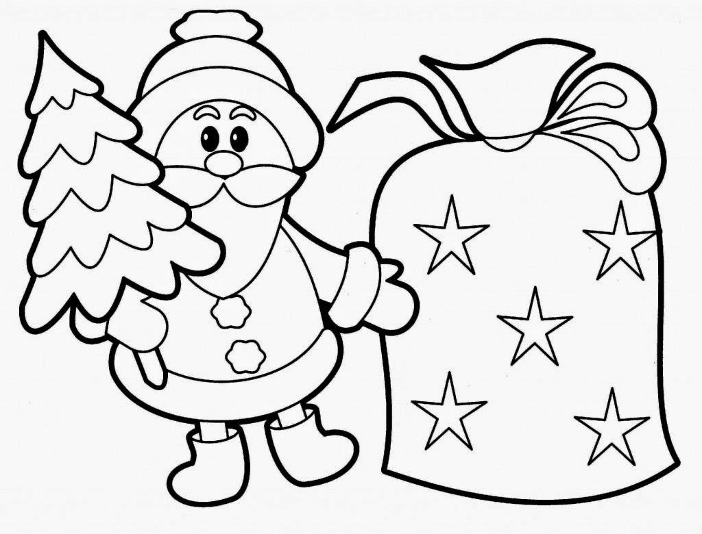 Santa Coloring Pages Printable | HD Coloring Pages