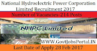 National Hydroelectric Power Corporation Recruitment 2017 – 214 Fellowship Officer