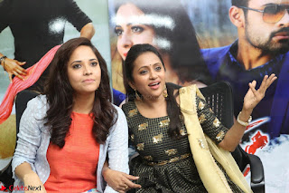 Actress Suma in Black Salwar Suit and Anusuya in orange Dress at winner movie press meet part 2 February 2017 (84).JPG