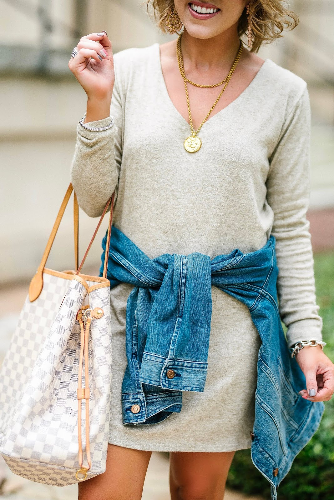 Everyday Style: Easy $35 Dress With Denim Jacket - Something Delightful Blog