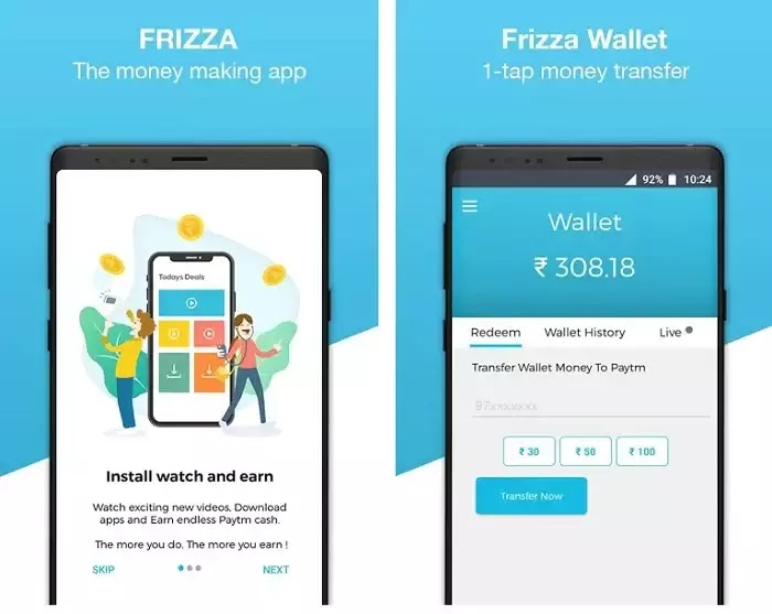 Frizza's Earning App - Daily Rewards, New Offers & Games