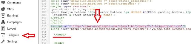 Add Sticky Sidebar Widget For Blogger -1