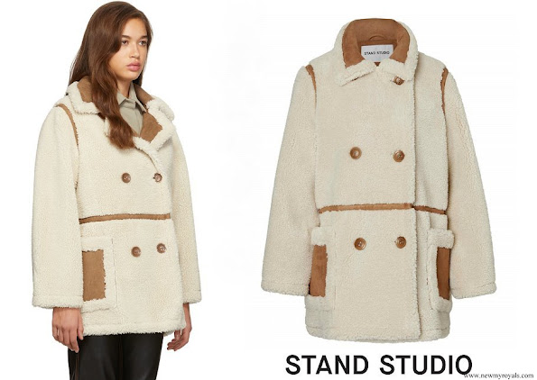 Princess Sofia wore Stand Studio off-white chloe jacket