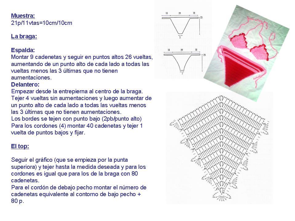 Famoso Patrones De Ganchillo Bikini Ornamento - Ideas de Patrones de ...