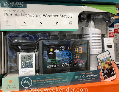 Get real time weather updates with the La Crosse Professional Remote Monitoring Weather Station