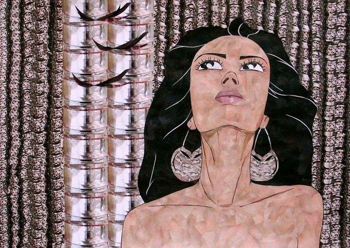 Cutout mosaic. Zarina Yayazova
