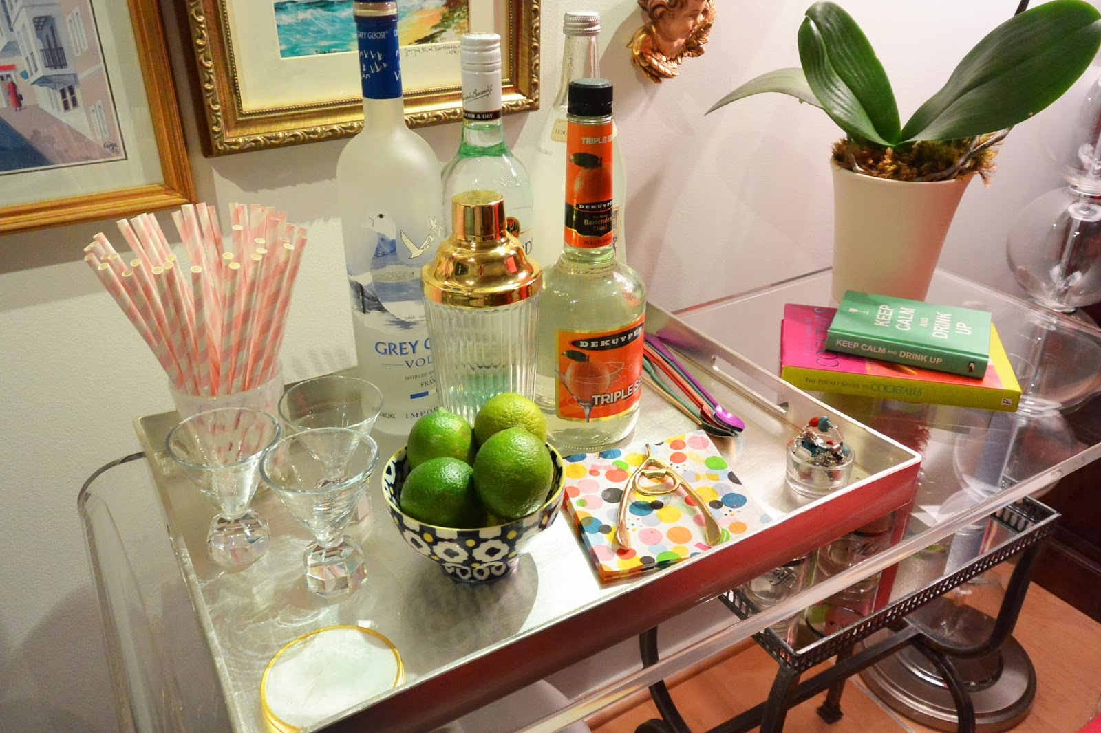 Life With A Dash Of Whimsy No Bar Cart Problem