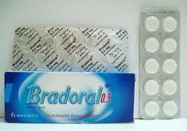 سعر ودواعي إستعمال أقراص برادورال Bradoral للإستحلاب