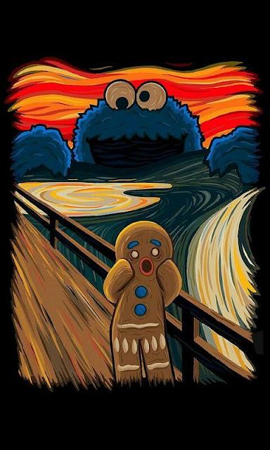 El grito de Munch - Versión Galletas