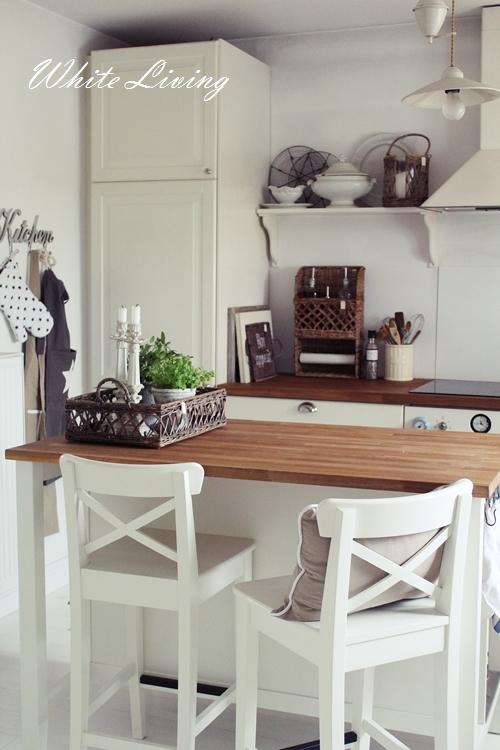 white living new kitchen white flowers. Black Bedroom Furniture Sets. Home Design Ideas
