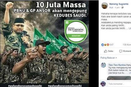 GP Ansor Akan Kepung Kantor Kedubes Arab Saudi?